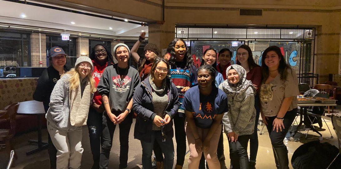 Students Gathered at Kickback Friday Event