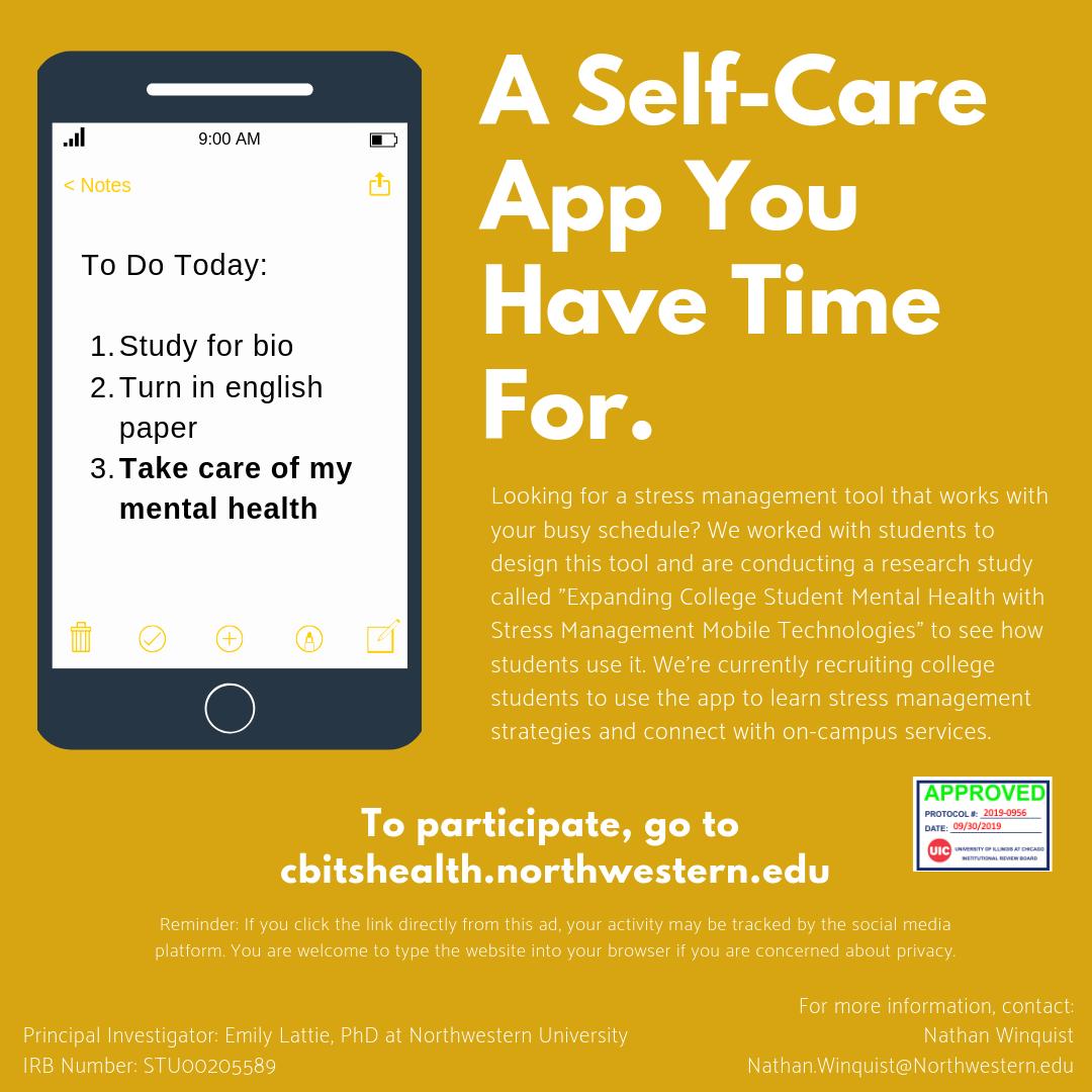 Self-Care App Flyer