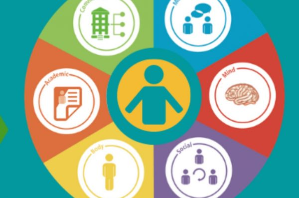 icon of person surrounded by health-related images